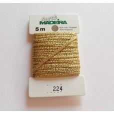 CARAT декоративная меттализированная тесьма №224 (2 мм) Madeira