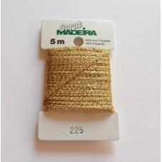 CARAT декоративная меттализированная тесьма №225 (2 мм) Madeira