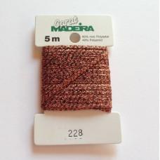 CARAT декоративная меттализированная тесьма №228 (2 мм) Madeira