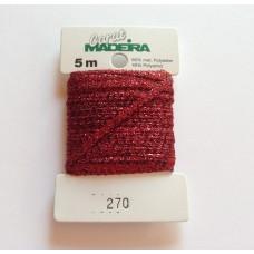 CARAT декоративная меттализированная тесьма №270 (2 мм) Madeira
