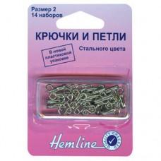 Крючки и петли в пластиковом контейнере №2 Hemline