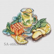 """Набор для вышивания Sa-Stitch """"Имбирный чай"""""""