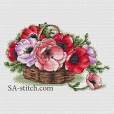 "Набор для вышивания Sa-Stitch ""Корзина с маками"""