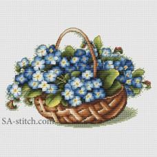 "Набор для вышивания Sa-Stitch ""Корзина с незабудками"""