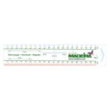 Универсальная линейка для рукоделия 20 см Madeira