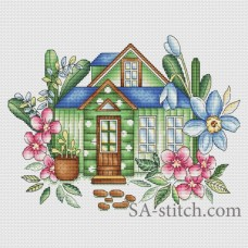 "Набор для вышивания Sa-Stitch ""Весенний домик"""