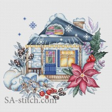 "Набор для вышивания Sa-Stitch ""Зимний домик"""