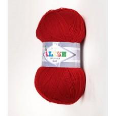 Alize LANAGOLD 800 №56 красный